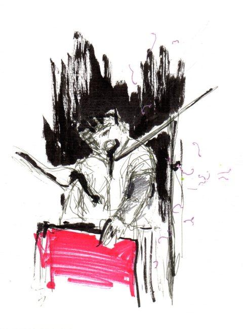 Chris Garneau et son drôle d'instrument