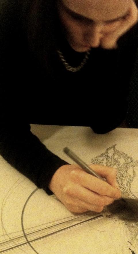 Natascha au coeur du dessin