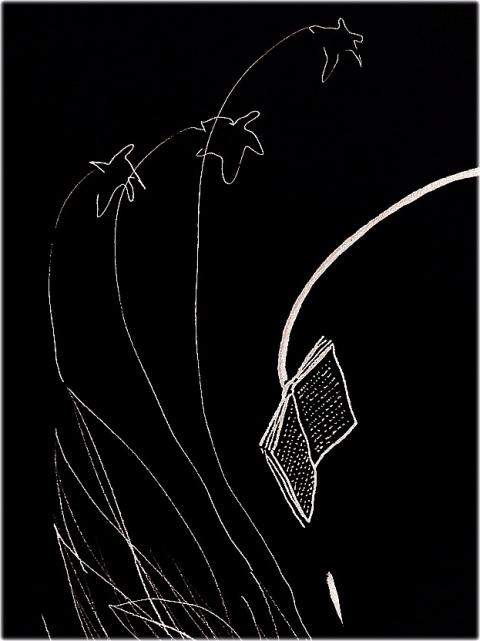 dessin rencontre par Kajan© 24.10.2015 négatif détail 3