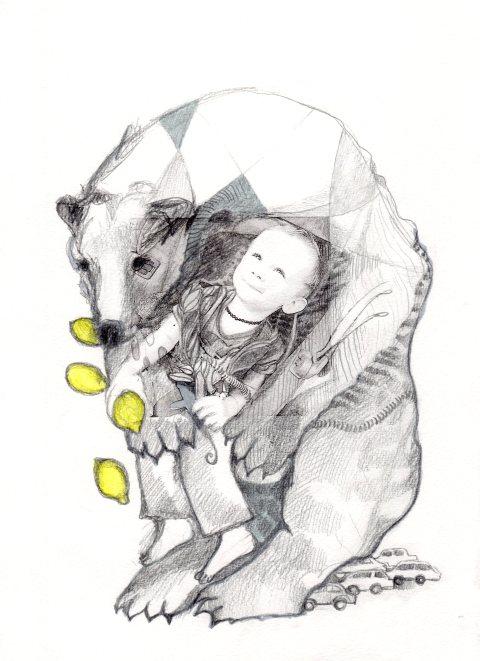 Keziah et l'ours par Kajan(c)